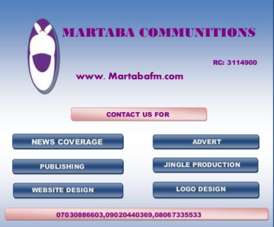 To Jama'a Ga Dama Ta Samu -Martaba Communications.