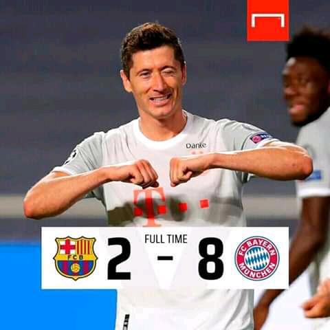 Barcelona ta fice Cikin kunya daga Gasar Zakarun Turai bayan Tasha duka hanun Bayern Munich